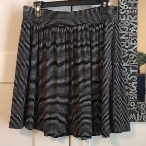 Loft Comfy Striped Skirt